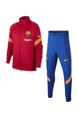 Junior FC Barcelona Strike trainingspak rood/blauw