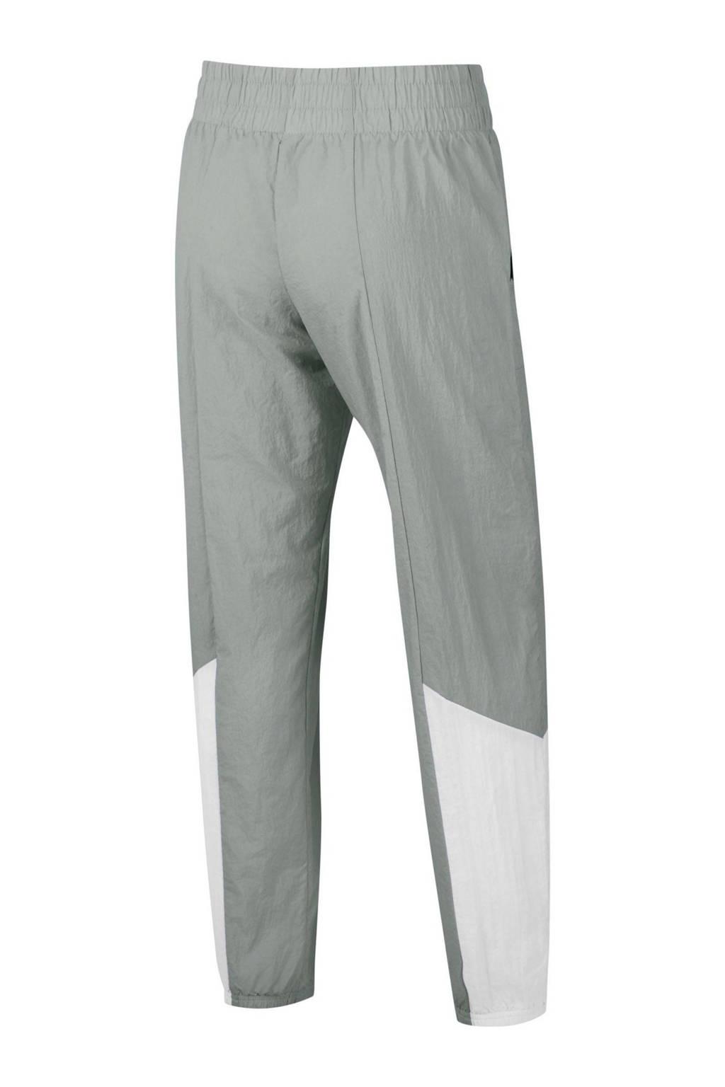 Nike trainingsbroek grijs/wit, Grijs/wit