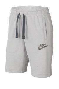 Nike sweatshort grijs melange, Grijs melange