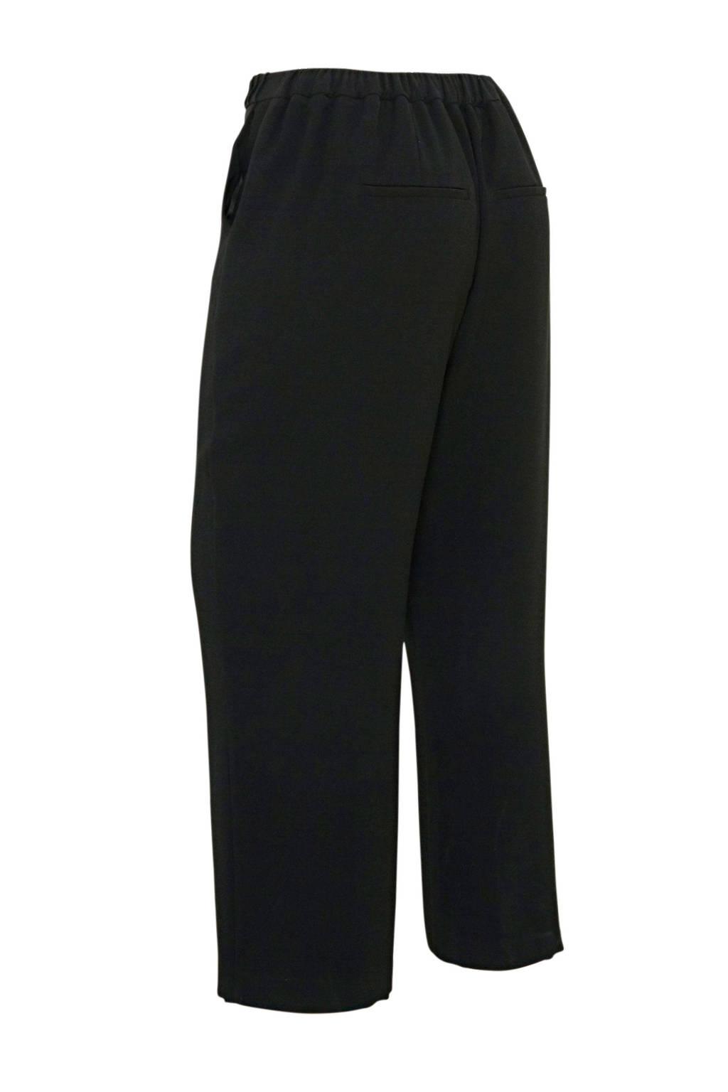 Yesta straight fit broek zwart, Zwart