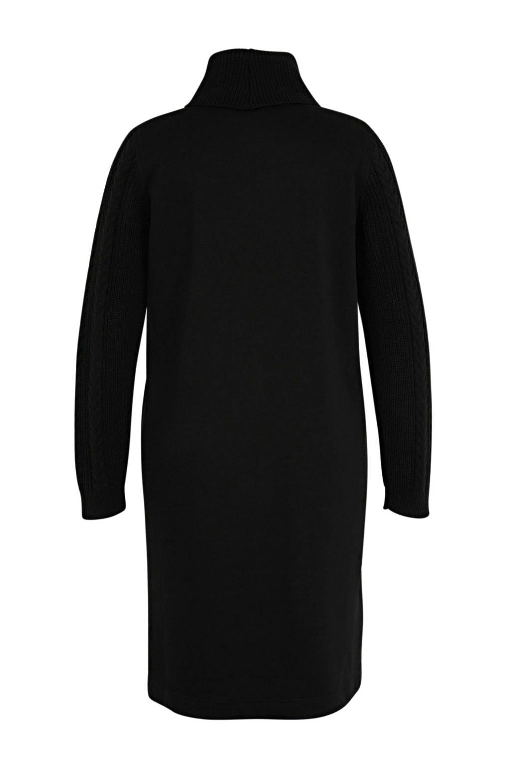 Yesta gebreide jurk zwart, Zwart