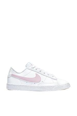 Blazer Low (PS) leren sneakers wit/roze