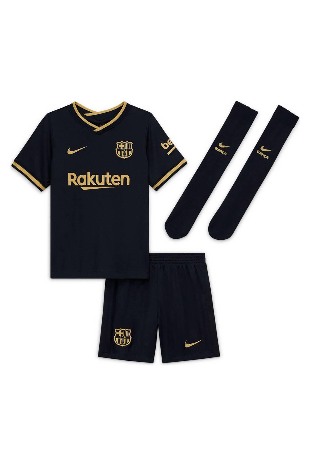 Nike Junior FC Barcelona kleuter uit set zwart/goud, Zwart/goud