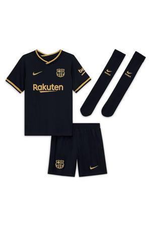 Junior FC Barcelona kleuter uit set zwart/goud