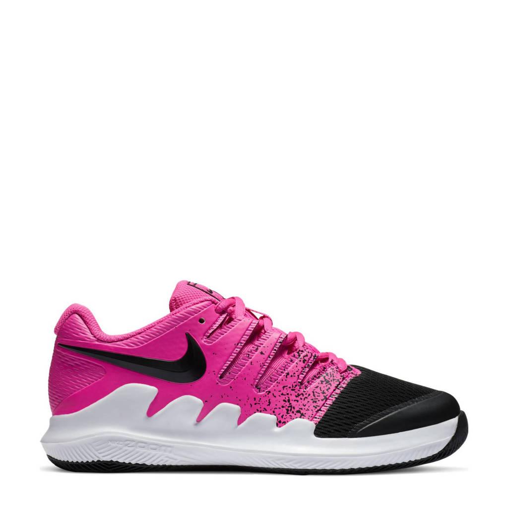 Nike Court Jr. Vapor X  tennisschoenen fuchsia/zwart/wit, Fuchsia/zwart/wit