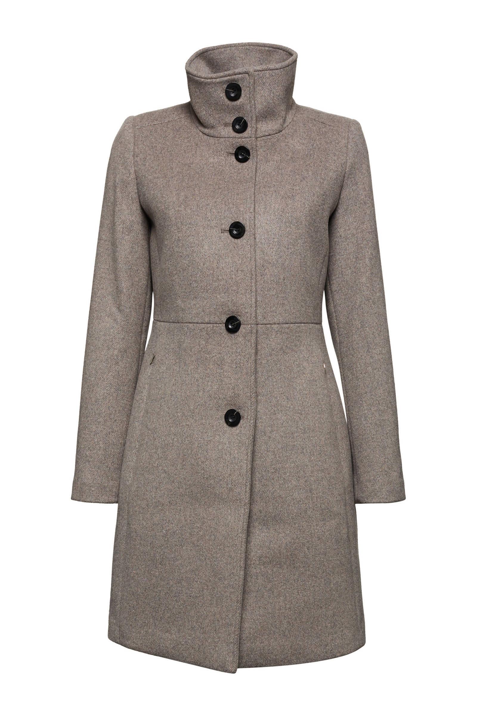 edc Women wollen bouclé coat | wehkamp