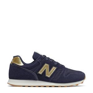 373  suede sneakers donkerblauw/goud