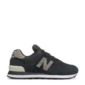 574  suède sneakers zwart/grijs