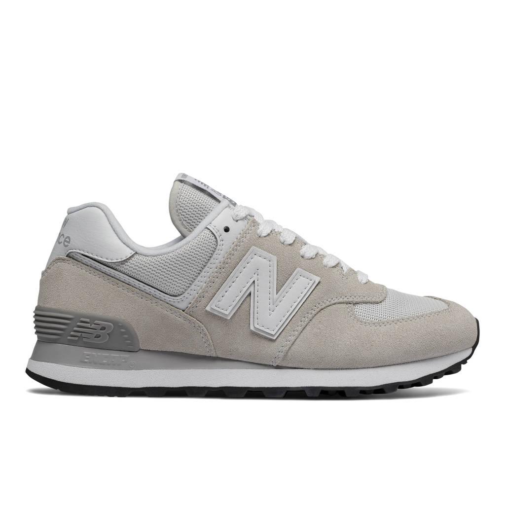New Balance 574  suède sneakers zand/wit, Zand/wit