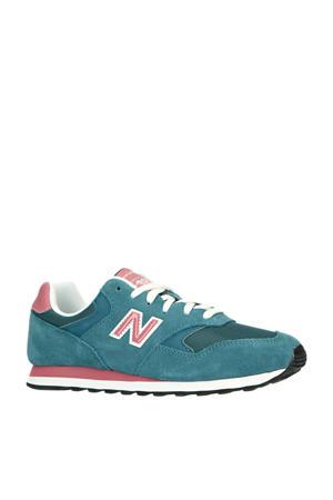 393  sneakers blauw/roze