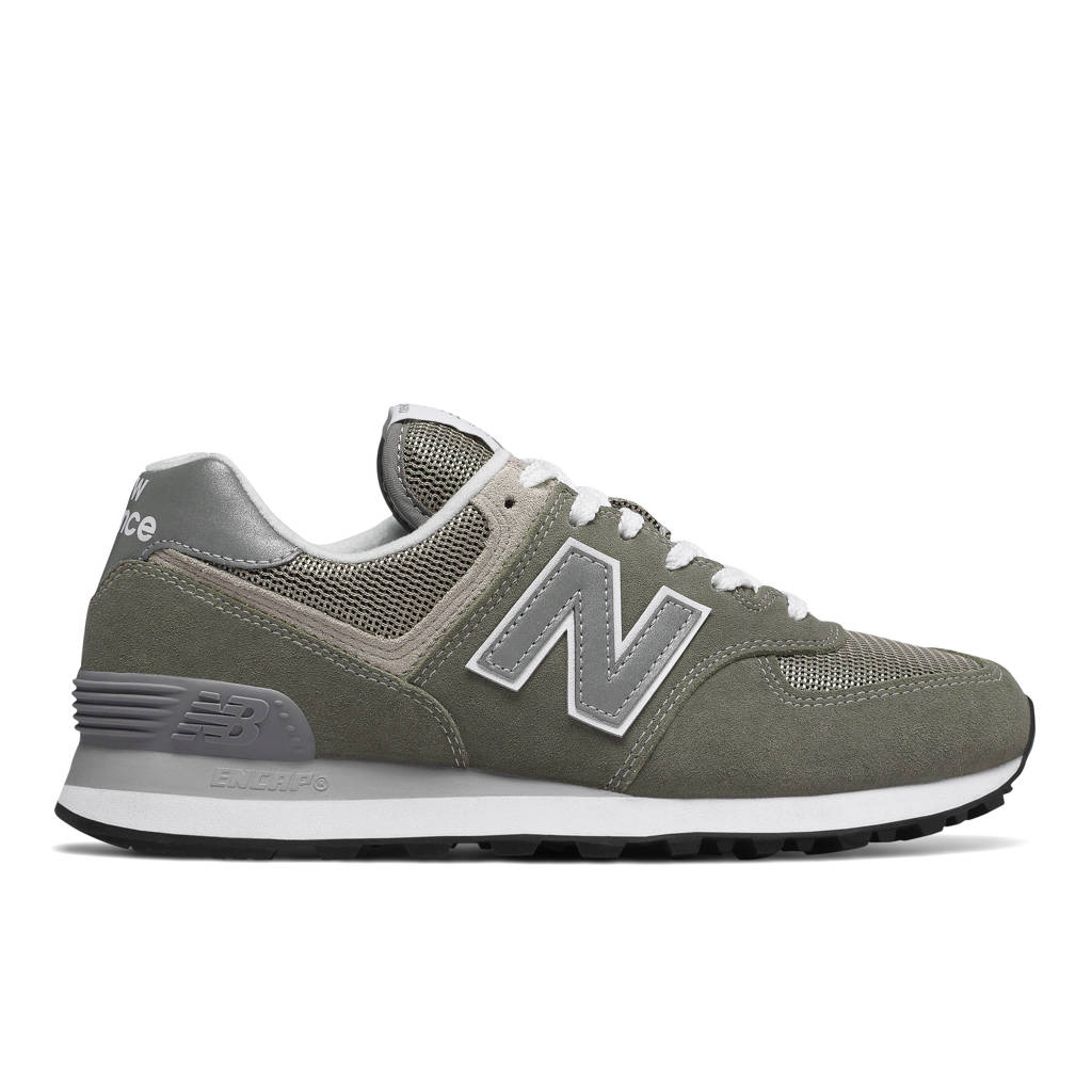New Balance 574  suède sneakers grijs/lichtgrijs, Grijs/lichtgrijs