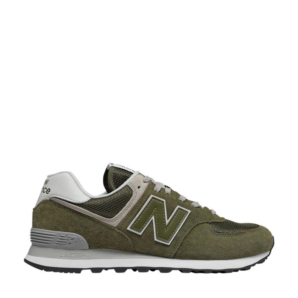 New Balance 574  suede sneakers olijfgroen/grijs, Olijfgroen/grijs