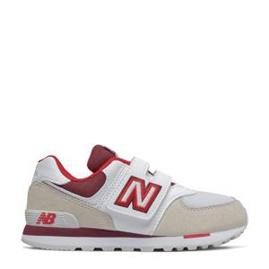 574  sneakers ecru/wit/rood
