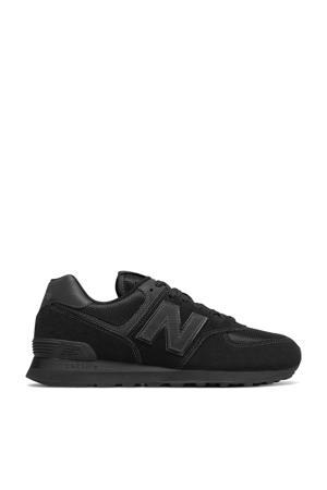 574  suede sneakers zwart
