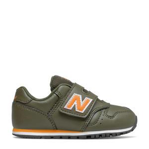 373  sneakers kaki/oranje