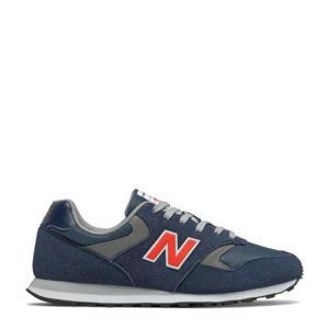 393  sneakers donkerblauw/grijs/rood