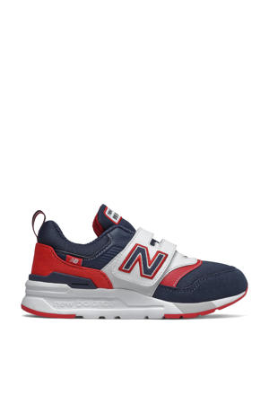997  sneakers donkerblauw/rood/wit
