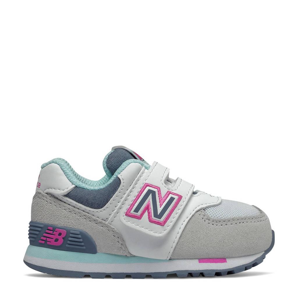 New Balance 574  sneakers grijs/wit/blauw, Grijs/wit/blauw