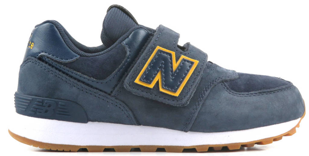 New Balance 574  sneakers donkerblauw/wit, Donkerblauw/geel