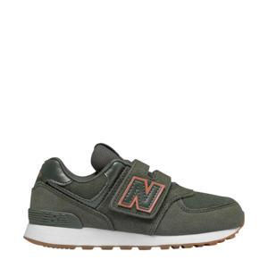 574  sneakers kaki/oranje