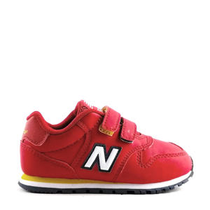 500  sneakers rood/wit