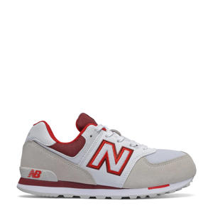 574  sneakers beige/wit/rood
