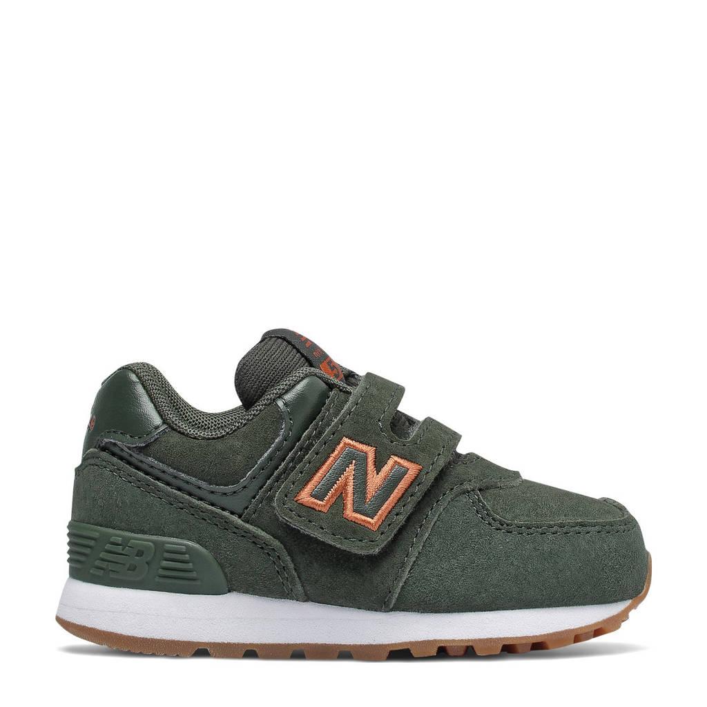 New Balance 574  sneakers kaki/oranje