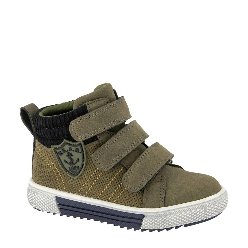 Bobbi-Shoes   hoge sneakers groen, Groen