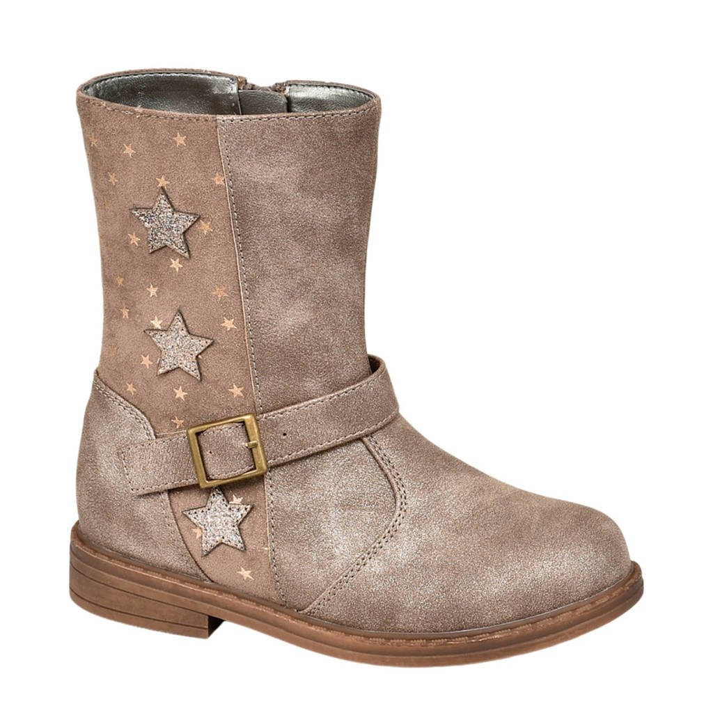 Cupcake Couture   laarzen met sterren bruin/goud, Lichtbruin/goud