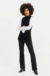 WE Fashion gebreide spencer zwart, Zwart