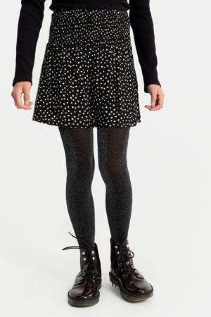 rok met hartjes zwart/wit