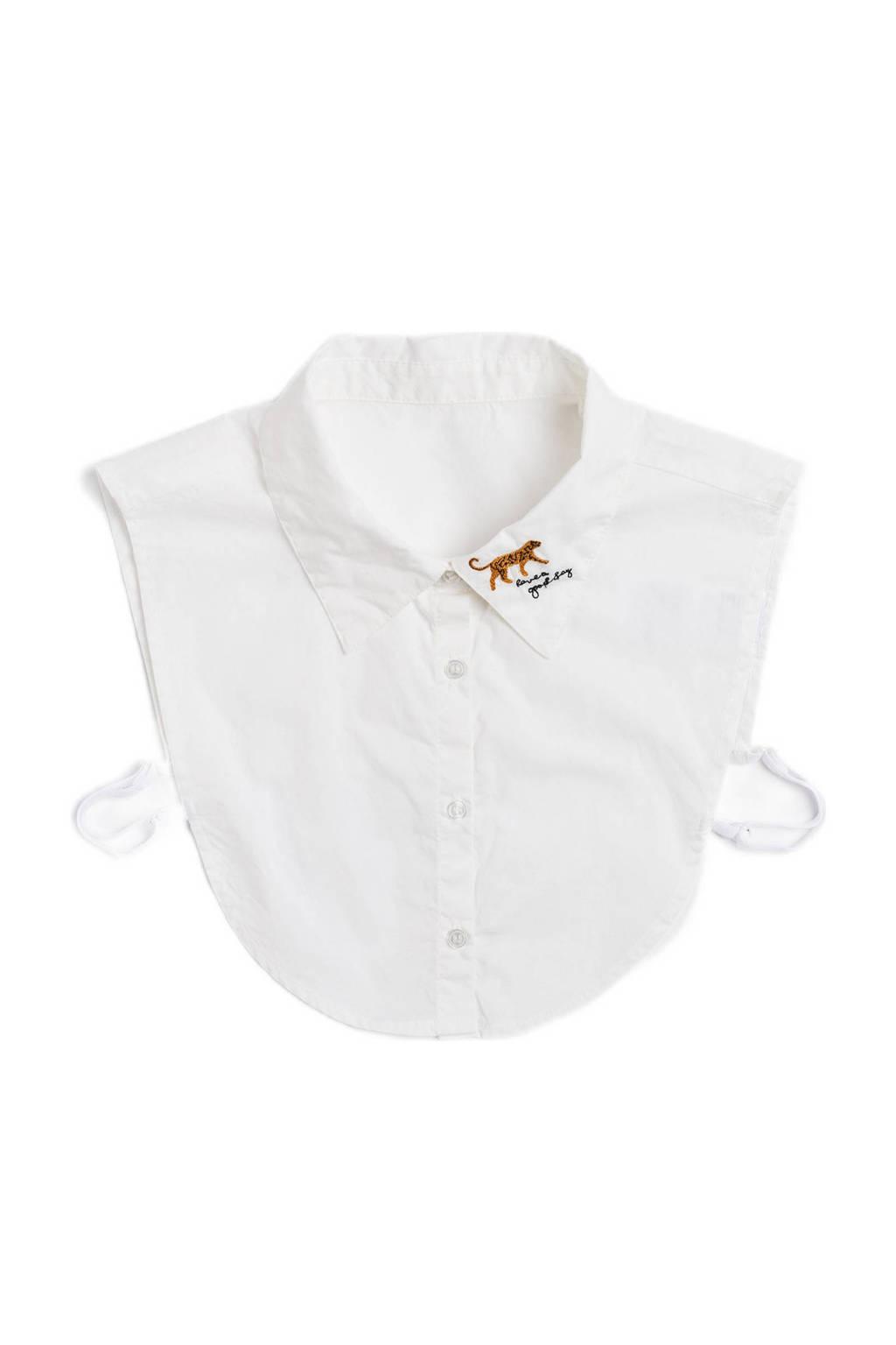 WE Fashion losse kraag wit, Blanc