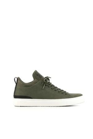 SG38  suède sneakers groen