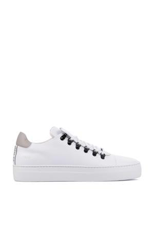 Jagger Classic  leren sneakers wit/beige
