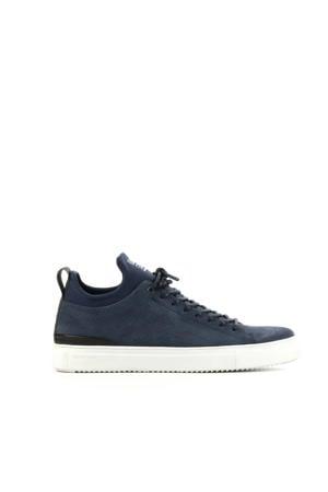 suède sneaker donkerblauw