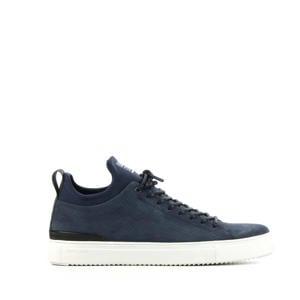 SG38  suède sneakers donkerblauw