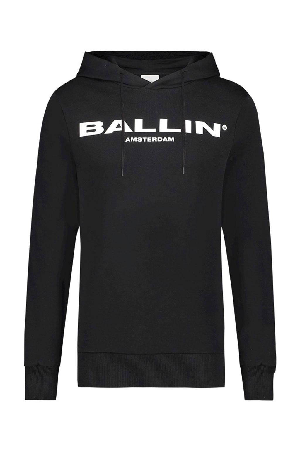 Ballin hoodie met tekst zwart, Zwart