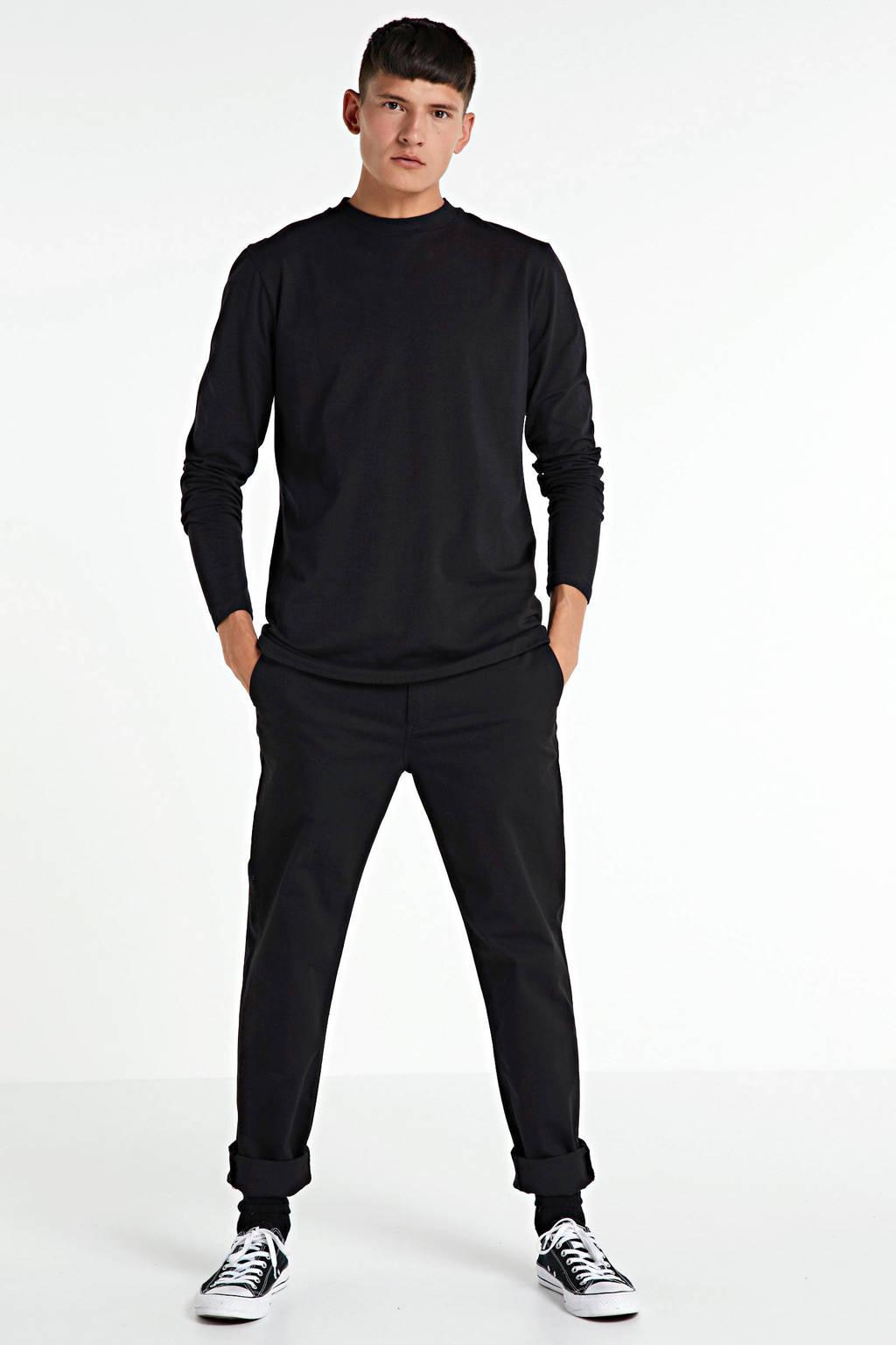 Purewhite longsleeve zwart, Zwart