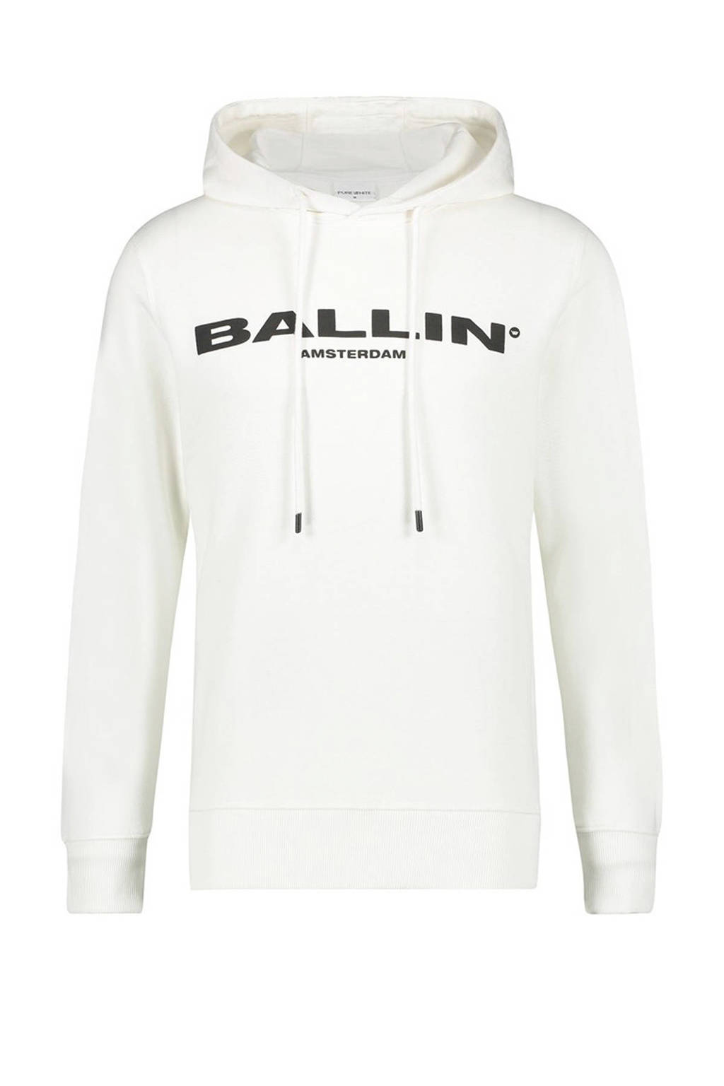 Ballin by Purewhite hoodie met tekst ecru, Ecru