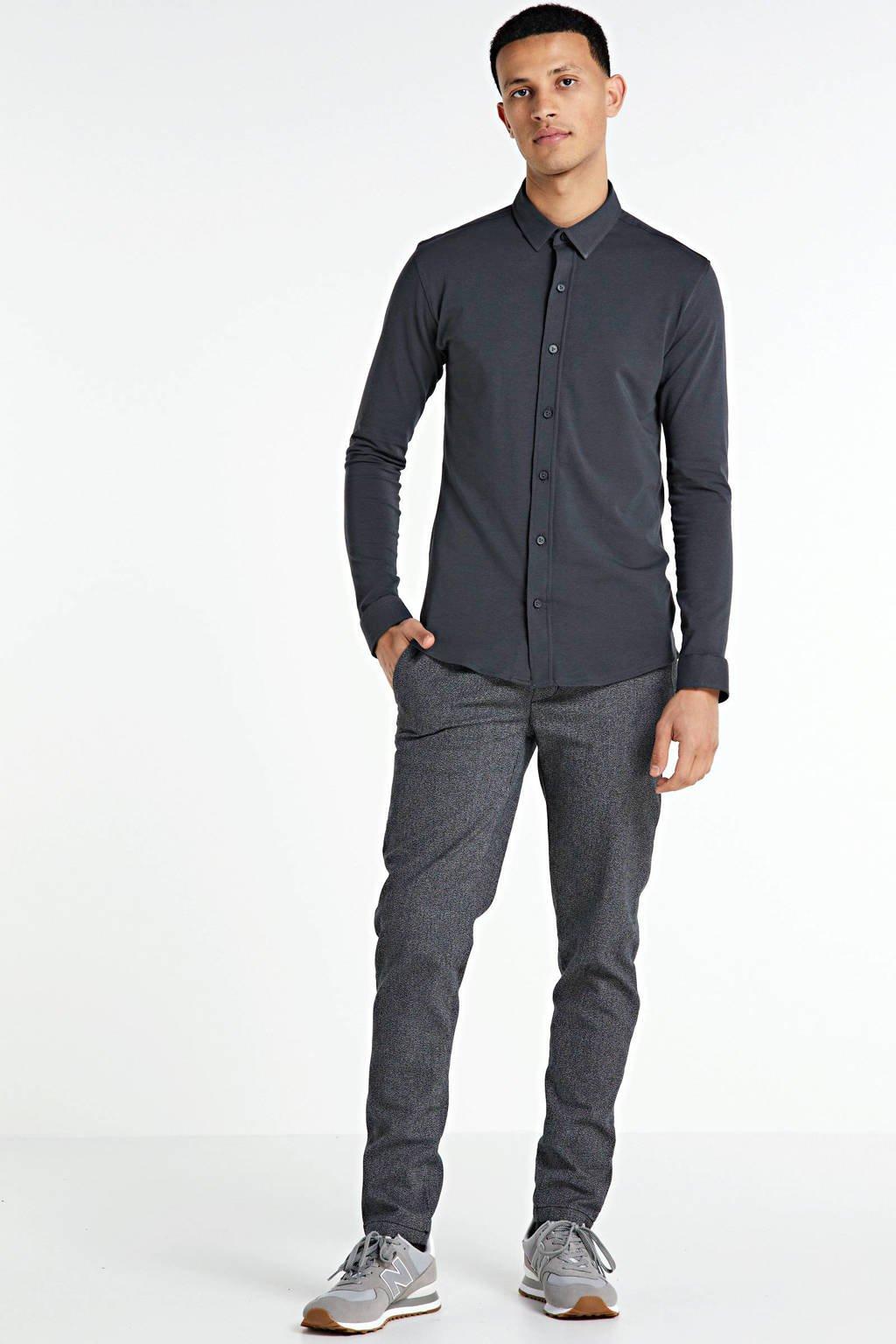 Purewhite slim fit overhemd antraciet, Antraciet