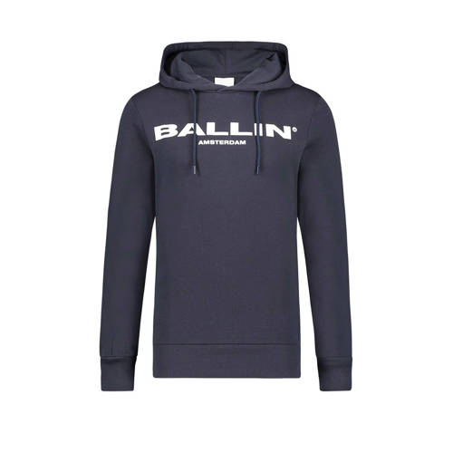 Ballin by Purewhite hoodie met tekst donkerblauw