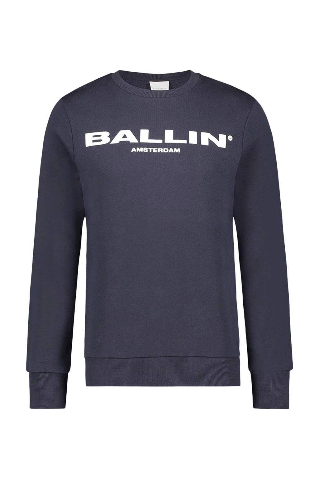 Ballin sweater met tekst donkerblauw, Donkerblauw