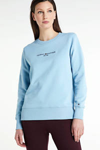 Tommy Hilfiger sweater met logo columbia blue, Columbia Blue