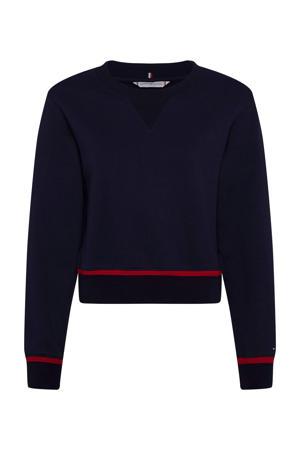 gestreepte gebreide sweater REGULAR VARSITY SWEATSHIRT LS van biologisch katoen dw5 desert sky
