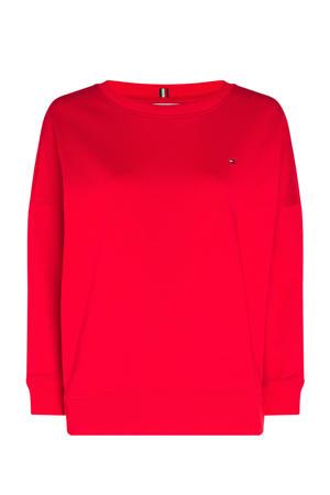 sweater van biologisch katoen primary red