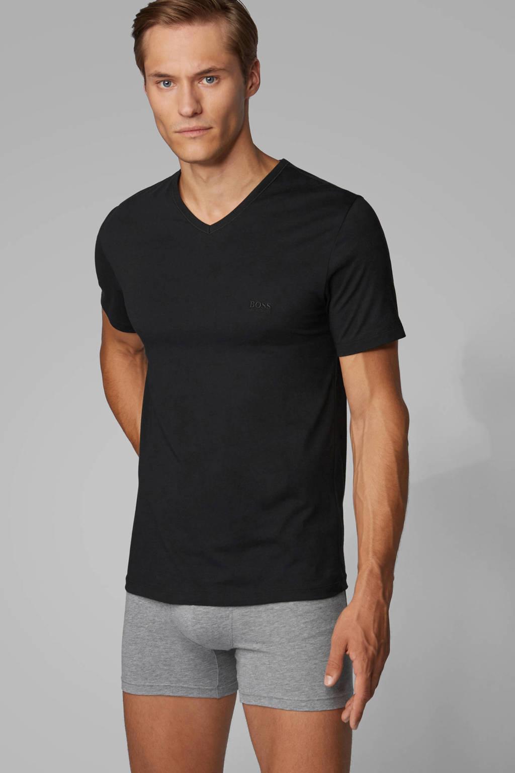 BOSS T-shirt (set van 3) zwart, Zwart