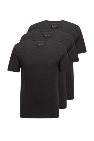 T-shirt (set van 3) zwart