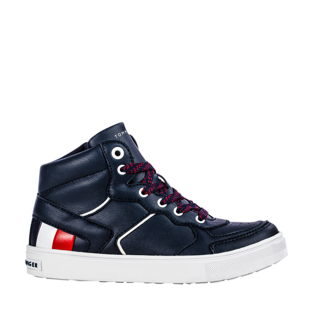 Tommy Hilfiger   hoge sneakers blauw, Donkerblauw/wit/rood