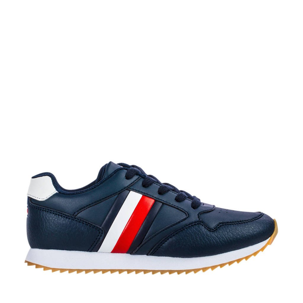 Tommy Hilfiger   sneakers donkerblauw, Donkerblauw/wit/rood