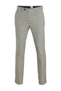Dstrezzed geruite slim fit pantalon lichtgrijs, Lichtgrijs